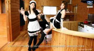 1000giri 2012-11-16 Yukari & Kiku レズフェティシズム~仲良しメイド2人のラブラブな時間